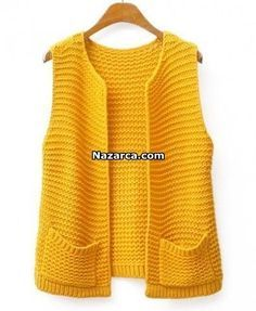 NEW scanning of free fire female vest – cardigan Knit Vest Pattern, Sweater Knitting Patterns, Knitting Stiches, Free Knitting, Mens Knit Sweater, Big Knits, Couture, Clothes, Knit Vest
