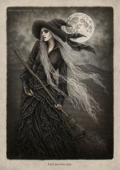 """Witch's Broomstick - """"Pale Moorland"""" by Victoria Francés."""