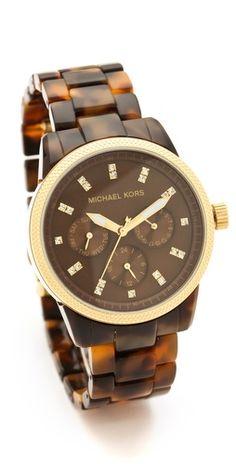 Michael Kors Tortoise Sport Watch | SHOPBOP