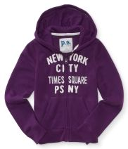 Kids' Times Square Zip-Front Hoodie - PS From Aéropostale®