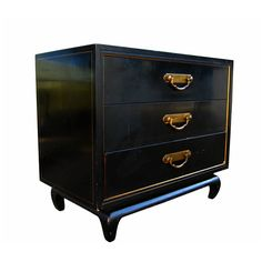 Asian Style American of Martinsville Commode With Brass Hardware | From a unique collection of antique and modern cabinets at http://www.1stdibs.com/furniture/storage-case-pieces/cabinets/