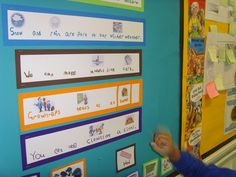 Interactive phonics display - V interesting adaptable idea!