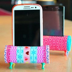Re-purposing is all about creativity! Check out this Easy DIY Phone Holder, a fun and easy way to reuse and recycle those toilet paper rolls
