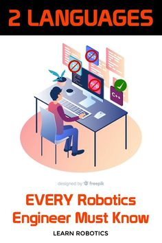 What languages do you need to learn for robotics? Find out in this article, then take a few courses to get your programming skills up to speed. Control Engineering, Engineering Careers, Robotics Engineering, Basic Computer Programming, Robot Programming, Learn Programming, Advanced Robotics, Learn Robotics, Arduino