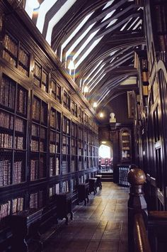 The oldest free public reference library in the UK, founded in 1653: Chetham's Library, Manchester
