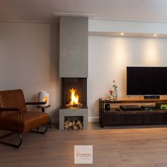 DWPALF - Discover what people are looking for Living Room Decor Fireplace, Home Fireplace, Fireplace Design, Home Living Room, Living Room Inspiration, Home Interior Design, New Homes, House Design, Decoration