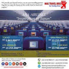 HOT Promo Tiket ANA AIRLINES, Cek yuk Sekarang selagi ada!  Beli tiket pesawat & KAI, booking hotel dan beli paket tour diMas Travel Biro ajaa.  #mastravelbiro #promotiket #travelservices #tiketpesawat #travelagent #tourtravel #travelindonesia #opentrip #familytour