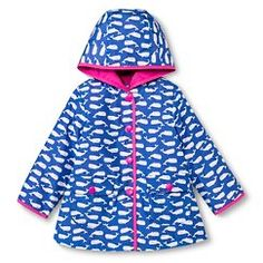 Infant Girls' Whale Raincoat - Blue 12M