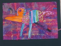 Mixed Media Bird- Kindergarten Art