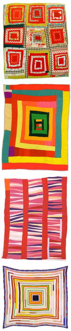 Collection of Gees Bend quilts - EW - I see this as inspiration that it is ok that I cant sew a straight line! cuz these are neat