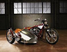 Jesse James and Sandra Bullock's Airstream Sidecar Motorcycle Types, Motorcycle Design, Bike Design, Motorcycle Gear, Vintage Motorcycles, Custom Motorcycles, Custom Bikes, Custom Choppers, Airstream