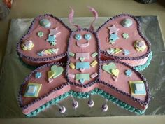 Leela's 4th birthday butterfly cake.