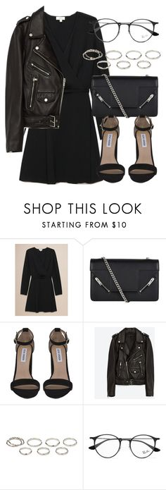 """Untitled #7077"" by laurenmboot ❤ liked on Polyvore featuring Yves Saint Laurent, Steve Madden, Jakke, Akira and Ray-Ban"