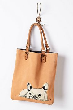 anthropologie - French Bulldog Tote /    Buy it, Borderlinx will ship it to you.  http://www.borderlinx.com/