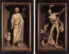 Volets extérieurs du triptyque de la famille Moreel, Hans Memling