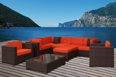 Orange is a gorgeous color for your outdoor cushions and pillows