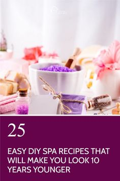 These Easy, fast DIY Spa Recipes use less than 5 natural ingredients per recipe and Will Make You Look 10 Years Younger. Perfect for a spa day at home. Pamper Days, Dandruff Remedy, Home Spa Treatments, Spa Night, Bath Recipes, Spa Day At Home, Diy Spa, Homemade Face Masks, Beauty Recipe