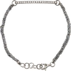 3b0e7c0798c3 Carolina Bucci Lucky 18-karat white gold diamond bracelet ( 2