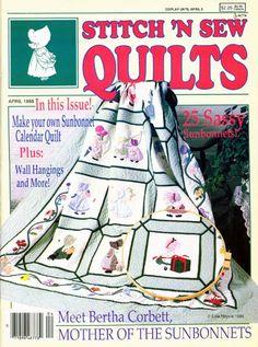 Sunbonnet Sue Quilt Designs | Vintage 1988 Stitch N Sew Quilts SUNBONNET SUE magazine 25 Patterns