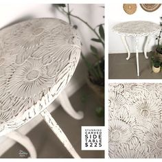 Claire aka The Shabby Chick® ( White Chalk Paint, Claire, Upcycle, That Look, Shabby, Carving, Photo And Video, Floral, Pretty