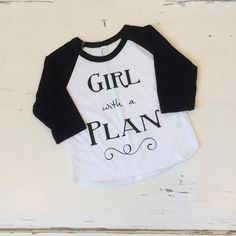 Girl with a Plan Graphic Raglan Baseball Tee | Gentry California | $14 | Click link to shop: http://www.gentrycalifornia.com/collections/exclusive-graphic-tees/products/girl-with-a-plan-raglan-graphic-tee-black