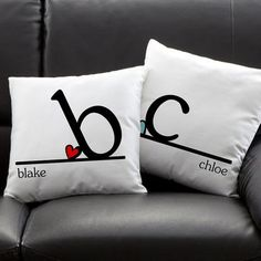 personalized pillows. This is so cute, you could have little pillows for kids too (and maybe paw shaped ones for dogs haha)