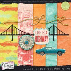 Quality DigiScrap Freebies: Life is an Adventure tiny kit freebie from Kim Jensen Designs