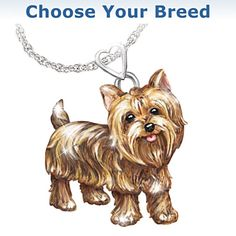 Best in show yorkie ring yorkshire terrier yorkshire and terrier playful pup diamond pendant necklace aloadofball Choice Image
