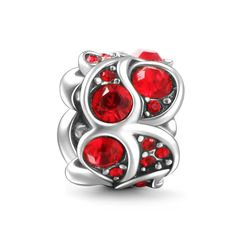 Roaring Flame Charm 925 Sterling Silver