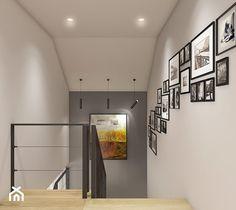 Dom pod Krakowem - przestrzeń zupełna - Hol / przedpokój, styl nowoczesny - zdjęcie od WERDHOME - homebook Dream Home Design, Home Interior Design, House Design, House Stairs, House 2, Stairs In Kitchen, New Staircase, Condo Living, Home Upgrades