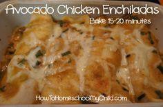 Avocado Chicken Enchilada Recipe – Cinco de Mayo {Monday Meals}