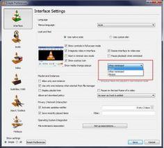 VLC disable notification when minimized