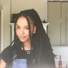 Beautiful Faux Locs Hairstyles 2019 Faux Locs Pulled Back Faux Locs Hairstyles, Girl Hairstyles, Hairstyles Videos, Goddess Locs, Curly Hair Styles, Natural Hair Styles, Twisted Hair, African Braids, Aesthetic Hair