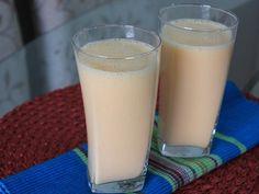 Batida de laranja e iogurte