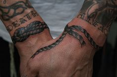 Are you interested in getting a rope tattoo? Check out this amazing array of tattoo designs with a rope theme! Wrist Tattoos, New Tattoos, Sleeve Tattoos, Tattoos For Guys, Cool Tattoos, Tatoos, Anchor Tattoos, Tribal Tattoos, Rope Tattoo