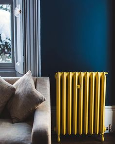 How to use the color duck blue in your decor? Caravan Decor, Living Area, Living Room, Caravan Renovation, Radiator Cover, Color Shapes, House Colors, Home Office, Sweet Home