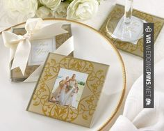 Awesome - Glass Photo Coasters brings you and your guests the gift of glorious memories. Elegant Glass Photo Coasters | CHECK OUT MORE GREAT REHEARSAL DINNER PICS AND IDEAS AT WEDDINGPINS.NET | #weddings #wedding #rehearsal #rehearsaldinner #bachelorparty #events #forweddings