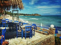 Fantastic Seaview From This Taverna in Tsilivi on Zakynthos island in Greece Photography by Alistair Ford