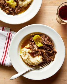 Instant Pot Mississippi Pot Roast | Kitchn Au Jus Gravy, Pepperoncini Peppers, Ranch Salad Dressing, Beef Chuck Roast, Roast Beef, Pot Roast Recipes, Dinner Recipes, Bread Recipes, Pasta Recipes