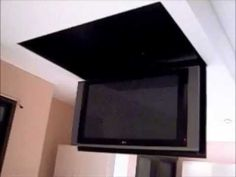 Motorized Flip Down Tv Lift From The Ceiling