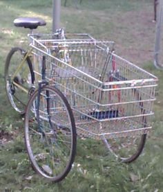 How to Build a Cartbike - this definitely has potential when the gas runs out and you are relying on your own power to get around..... for foraging