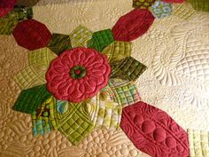 My modern dresden quilt, made and quilted by www.quiltsoflove.blogspot.com