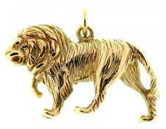 A GOLD LION PENDANT, MARKED 375, 11.4G  Sold @ Mellors & Kirk
