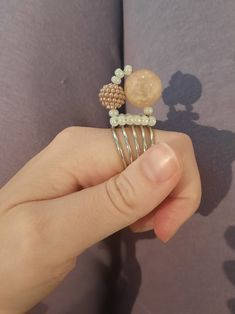 Rose Gold Color, Silver Color, Witch Rings, Queen, Statement Rings, Spinning, Seed Beads, Spiral, Anxiety
