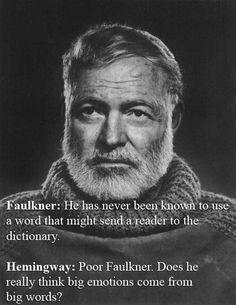 Ernest Hemingway Vs. William Faulkner | The 32 Wittiest Comebacks Of All Time