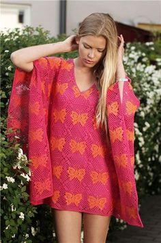 Plain Vanilla Crochet Summer Diva virkad tunika/klänning