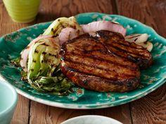 recette barbecue ribs par Jamie Oliver- côtes de porc glacés et artichauts grillés