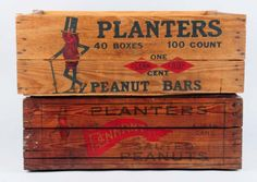 Lot of 2: Planter's Peanut Crates.