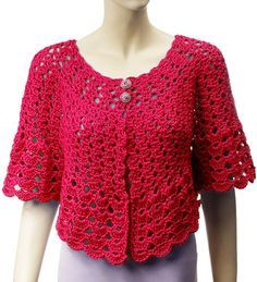 $7.99~Gourmet Crochet Allegra Morning Jacket by Carolyn Christmas, via Flickr