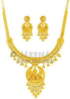 Bridal & Wedding Party Jewelry Fast Deliver Designer Gold Tone Goddess 2pc Necklace Set Ethnic Indian Women Party Jewellery 100% High Quality Materials
